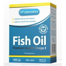 Рыбий жир VPlab Fish Oil 1000мг 60 капс